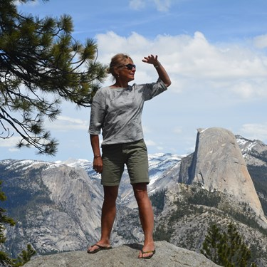 Rejseleder Lisbeth Engbo i Yosemite National Park i USA april 2016