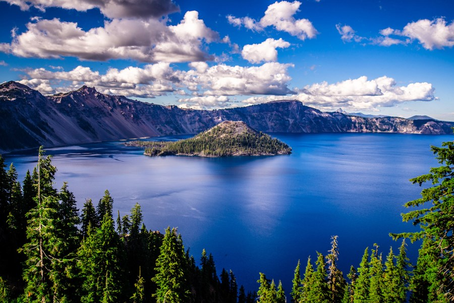 Crater Lake nationalparken. Foto Viktors Farmor