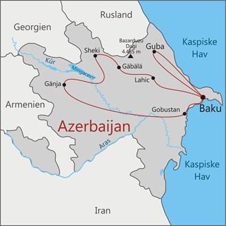 Rejs til smukke Azerbaijan med Viktors Farmor