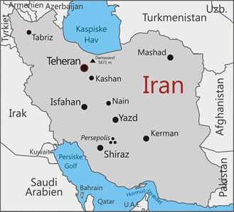 Kort over Iran