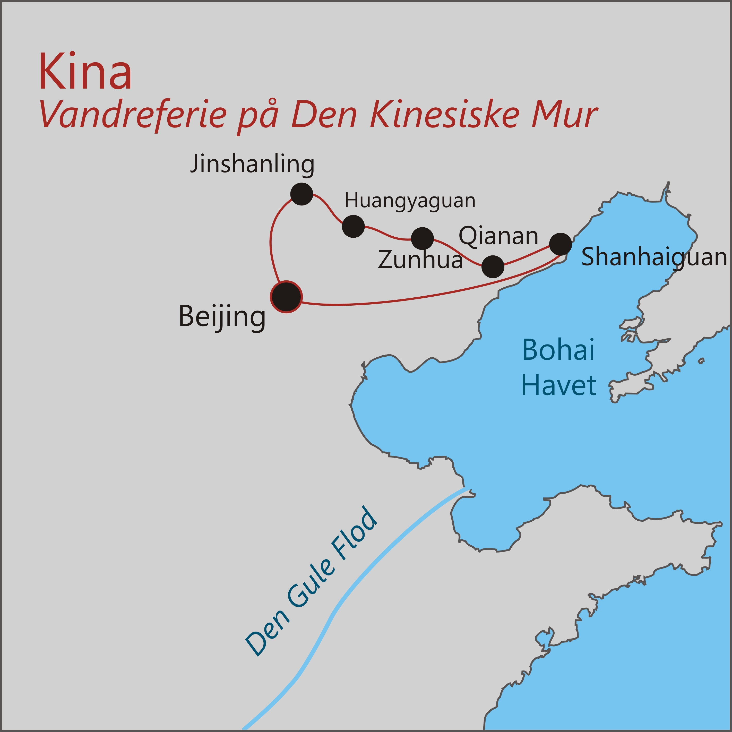 Den Kinesiske Mur Kort