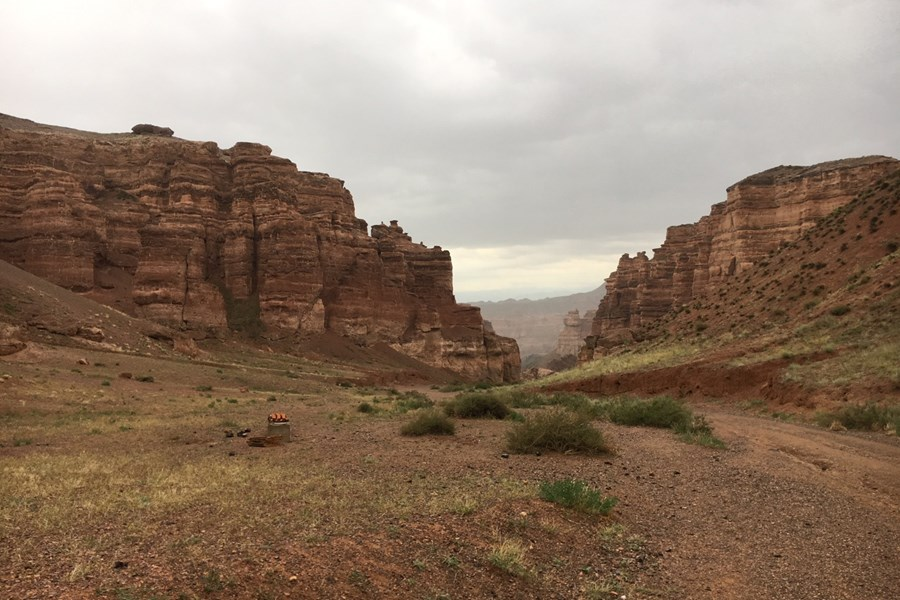 Den dybe Charyn Canyon betragtes som Grand Canyons lillebror. Foto Heidi Eriksen